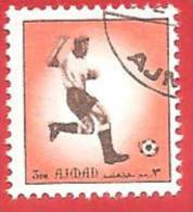 EMIRATI ARABI - AJMAN -  USATO - 1972 - SPORT - CALCIO - SOCCER  - DM 3 - Ajman