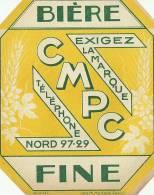 Etiquette Bouteille Ref 010. Bière Fine CPMC - Bière