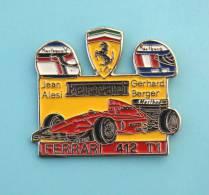 Pin´s Formule 1 ,Scuderria  FERRARI , Jean ALESI, Gerhard,  FERRARI  412 T1 - F1