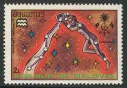 """Maldives Malediven 1974 Mi 530 ** """"Aquarius"""" – Water-carrier - Zodiac / Wassermann - Tierkreiszeichen / Waterman - Astrologie"""