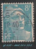 1948 -  Europe  -  France  -  Marianne De Gandon  - 8 F. Bleu-clair -