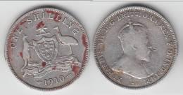 **** AUSTRALIE - AUSTRALIA - 1 SHILLING 1910 - ONE SHILLING 1910 EDWARD VII - ARGENT - SILVER **** EN ACHAT IMMEDIAT !!! - Monnaie Pré-décimale (1910-1965)