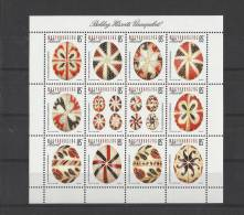 14.Hungary 2013.Easter Beautiful Eggs From The  Decorative Egg Collection Sheet MNH  NEW!!! - Unused Stamps