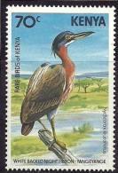 Kenya 1984 Birds Aves Oiseaux Vegels - White-backed Night Heron - Gorsachius Leuconotus MLH - Storks & Long-legged Wading Birds