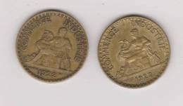 2 FRANCS 1922   - LOT DE 2 PIECES - France