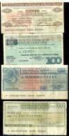 ITALY 100 LIRE X 3 & 200 PROVISIONAL BANCOS INC. GENOA ETC. MOTIFS FRONT& BACK DATED 1976-1977 P.? READ DESCRIPTION !! - [ 4] Voorlopige Uitgaven