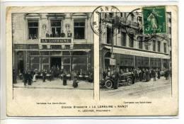 54-008 NANCY   La Grande BRASSERIE LA LORRAINE H Lecuyer Prop écrite En 1914   - - Nancy