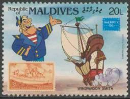 Maldives Malediven 1986 Mi 1180 ** Windwagon Smith + Kansas Territory Cent. Stamp Minr. 677 (1954) - Postzegels Op Postzegels