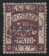 PALESTINA 1920/21 - Yvert #22ab - VFU - Palestina