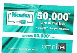 OMNITEL ITALIA  - CAT. C.&C. (7^ EDIZ.) 1071 - RAGGI VERDI CENTRATI 50 SC. 31/05/2000    - USATA (RIF. CP) - Italia