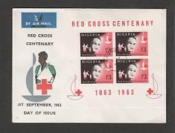 NIGERIA  - 1 9 1993 FDC CROCE ROSSA (FOGLIETTO) - Red Cross