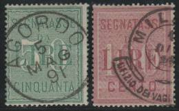 ITALIA 1884 - Yvert #20/21 (Fiscales) - VFU - 1878-00 Umberto I
