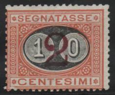 ITALIA 1890/91 - Yvert #22 (Taxas) - MLH * - 1878-00 Umberto I