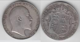 **** GRANDE-BRETAGNE - GREAT-BRITAIN - HALF CROWN 1909 EDWARD VII - ARGENT - SILVER **** EN ACHAT IMMEDIAT !!! - 1902-1971 : Post-Victorian Coins
