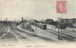 AMBERIEU VUE GENERALE DE LA GARE TRAIN LOCOMOTIVE 01 AIN - France