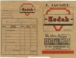 Pochette Négatifs LE MANS J. SAUNIER Kodak  Appareil Photo Pellicules Central Photo - Photographie
