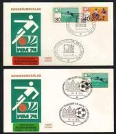 ALLEMAGNE - FOOTBAL - SOCCER / 1974 COUPE DU MONDE 2 ENVELOPPES  (ref 4415) - Fußball-Weltmeisterschaft