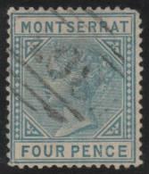 MONTSERRAT 1884/85 - Yvert #10b (Filigrana CA) - VFU - Montserrat