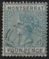 MONTSERRAT 1880 - Yvert #4 - VFU - Montserrat