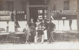 Commerce - Carte-Photo - Restaurant Propriétaires Et Clients - Métiers Employés - Restaurants