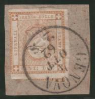 ITALIA 1862 - Yvert #1 (Taxas) - VFU En Fragmento - Fiscales
