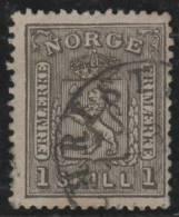 NORUEGA 1867 - Yvert #11 - VFU - Noruega