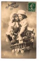 Adorables élégante Fillettes  Hotte Pleine De Jouets   1911 - Lovely Little Girl, Toys - - Navidad