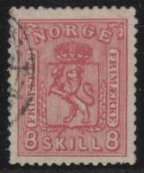 NORUEGA 1867 - Yvert #15 - VFU - Noruega