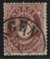 NORUEGA 1871/75 - Yvert #21 - VFU - Noruega