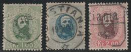 NORUEGA 1878 - Yvert #32/34 - VFU - Noruega