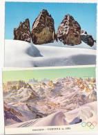 Italie Canazei Dolomiti Lavaredo Cortina Olimpiadi - Cartes Postales