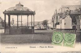 BELGIQUE DINANT  PLACE DE LA MEUSE  CPA NO 52 KIOSQUE - Dinant