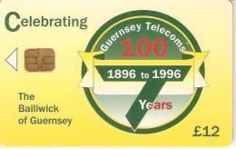 GUE-16  TARJETA DE GUERNSEY DE CENTENARY CARD DE TIRADA 1600 (NUEVA-MINT) - Reino Unido