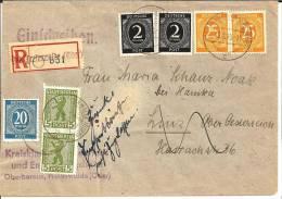 SBZ057 / Freiwalde Nach Oesterreich 15.10.45. Zurueck Da Post Ins Ausland Noch Nicht Freigegeben - Zone Soviétique