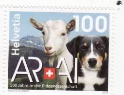 2013 Svizzera - Appenzello - 500 Anni Nella Confederazione - Nuovi
