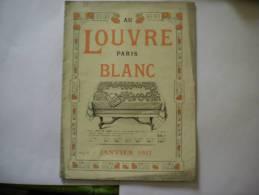 AU LOUVRE CATALOGUE BLANC JANVIER 1917 - Publicités