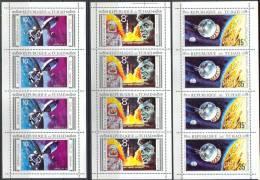 2384 Space Apollo Wostok Kennedy 1971 Chad 3Sheets 4set MNH ** >32ME RARE - Space