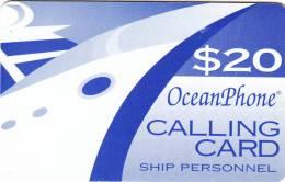 PUERTO RICO - Oceanphone By MTN Satelite Prepaid Card $20, Exp.date 31/12/05, Used - Puerto Rico
