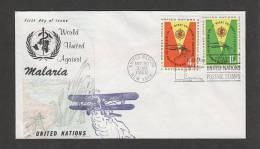 UNITED NATIONS - 30 3 1962  FDC MALARIA - Disease