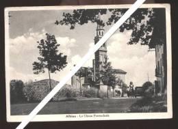 GAIARINE - FRAZIONE ALBINA - ANNI 40-50 LA CHIESA PARROCCHIALE - ANIMATA! - Treviso