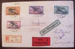 MEMEL - 1922 Superbe Lettre Avion Pour Eilboten Multiple Merson Surcharges Flugpost - Memel (1920-1924)