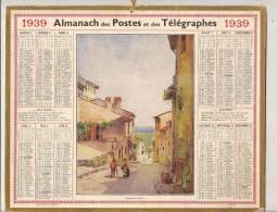 ALMANACH CALENDRIER DES POSTES ET TELEGRAPHES 1939 IMPRIMERIE OBERTHUR 51 MARNE - Big : 1921-40