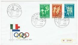 JO 43 - Luxembourg N° 716/21 Sur 2 FDC Jeix Olympiques De Mexico 1968 - Verano 1968: México