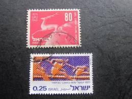 VRAC  2 Stamps -Timbres Oblitérés  Collection—> : Medina  Israël —> UPU 1949 -Hapoel Games 1975 - Israel