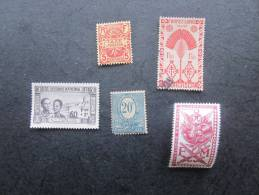 5 Stamps -Timbres Oblitérés  & Neufs—>:Réunion,Secour S National Tunisie,Silésie,Madagasc Ar,Mali:colonie F - France (ex-colonies & Protectorats)