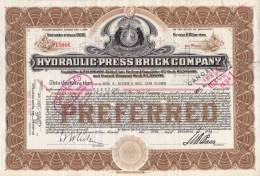 Bonds/Shares: 1944 Hydraulic- Press Brick Company, Shares 50 (A 330) - Actions & Titres