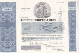 Bonds/Shares: 1984 Heizer Corporation, Shares 1000 (A 330) - Shareholdings