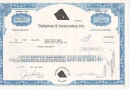 Bonds/Shares: 1975 Seligman & Associates, Inc., Shares 400 (A 330) - Shareholdings