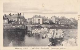 1914/15 CARTE ALLEMANDE * MEZIERES CHARLEVILLE * DESTRUCTION DU PONT - CARTE WELTKRIEG  NR. 333 - Charleville