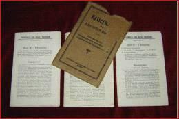 RELIEFKARTE Vom Bayerischen Hochland, 1908  3 Farbige Karten Karten Format (/Karte) 72 X 50 Cm Hülle Beschädigt (diehe F - Libri, Riviste, Fumetti